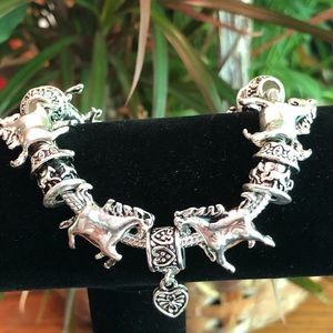 Horses and Hearts Charm Bracelet Horse Lovers